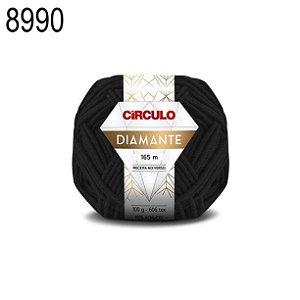 Lã Diamante Cor 8990 Preto 100 Gramas 165 Metros