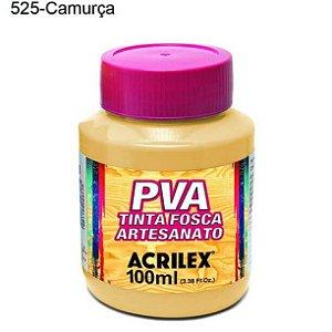 Tinta PVA Fosca para Artesanato Cor 525 Camurça 100ml Acrilex