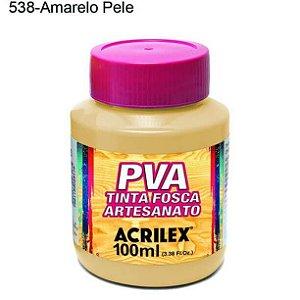 Tinta PVA Fosca para Artesanato Cor 538 Amarelo Pele 100ml Acrilex