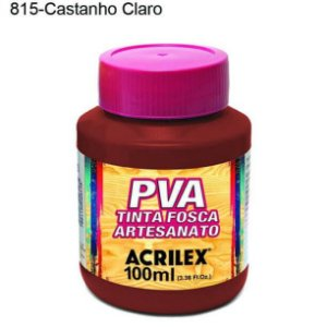 Tinta PVA Fosca para Artesanato Cor 815 Castanho Claro 100ml Acrilex