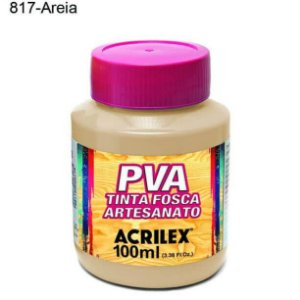 Tinta PVA Fosca para Artesanato Cor 817 Areia 100ml Acrilex