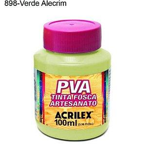 Tinta PVA Fosca para Artesanato Cor 898 Verde Alecrim 100ml Acrilex