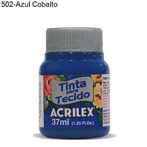 Tinta para Tecido 37ml Cor 502 Azul Cobalto Acrilex