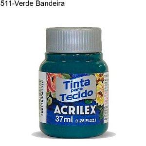 Tinta para Tecido 37ml Cor 511 Verde Bandeira Acrilex
