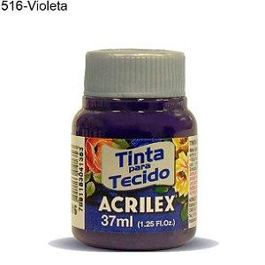 Tinta para Tecido 37ml Cor 516 Violeta Acrilex