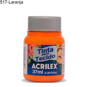 Tinta para Tecido 37ml Cor 517 Laranja Acrilex