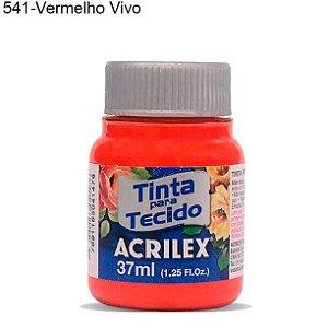 Tinta para Tecido 37ml Cor 541 Vermelho Vivo Acrilex