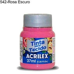 Tinta para Tecido 37ml Cor 542 Rosa Escuro Acrilex