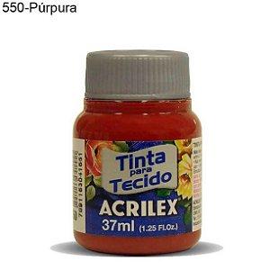 Tinta para Tecido 37ml Cor 550 Purpura Acrilex