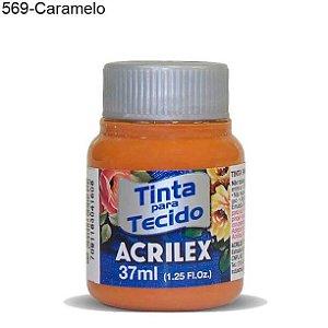 Tinta para Tecido 37ml Cor 569 Caramelo Acrilex
