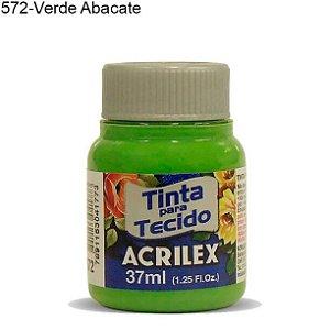 Tinta para Tecido 37ml Cor 572 Verde Abacate Acrilex