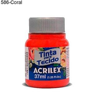 Tinta para Tecido 37ml Cor 586 Coral Acrilex