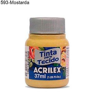 Tinta para Tecido 37ml Cor 593 Mostarda  Acrilex