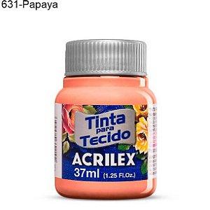Tinta para Tecido 37ml Cor 631 Papaya  Acrilex