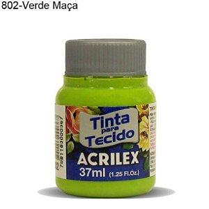 Tinta para Tecido 37ml Cor 802 Verde Maçã  Acrilex