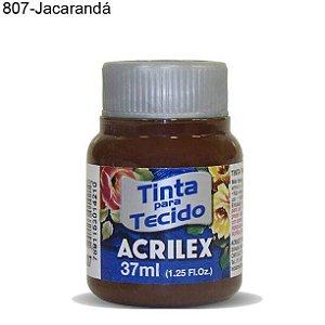 Tinta para Tecido 37ml Cor 807 Jacarandá  Acrilex