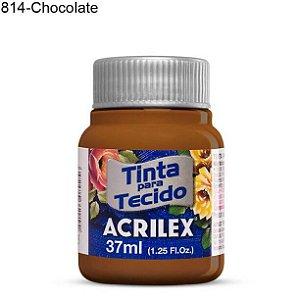 Tinta para Tecido 37ml Cor 814 Chocolate  Acrilex
