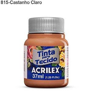 Tinta para Tecido 37ml Cor 815 Castanho Claro  Acrilex