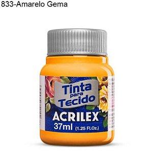 Tinta para Tecido 37ml Cor 833 Gema  Acrilex