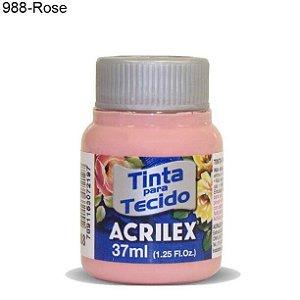 Tinta para Tecido 37ml Cor 988 Rose  Acrilex
