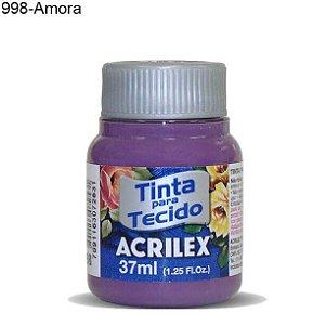 Tinta para Tecido 37ml Cor 998 Amora  Acrilex