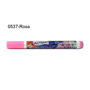 Caneta para Tecido Acrilpen Cor 0537 Rosa Acrilex