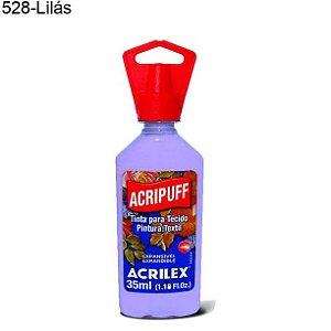 Tinta para Tecido Acripuff 35ml Cor 528 Lilás Acrilex