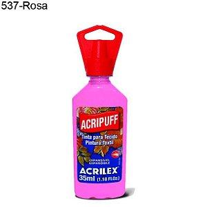 Tinta para Tecido Acripuff 35ml Cor 537 Rosa Acrilex