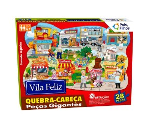 Quebra Cabeça Vila Feliz 28 Peças Gigantes 0990 Pais & Filhos