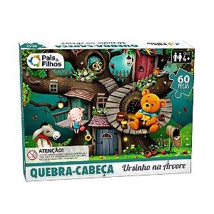 Quebra Cabeça Ursinho na Arvore 60 Peças 10769 Pais & Filhos