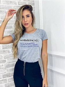 T-SHIRT VERDADEIRA ( MESCLA CLARO )