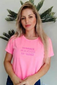 CROPPED PINK NEON SUMMER