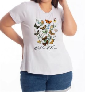 T-SHIRT  PLUS WILD AND FREE