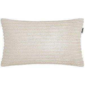 CAPA ALMOFADA BAGUETE SOFT OFF WHITE 28 cm x 48 cm