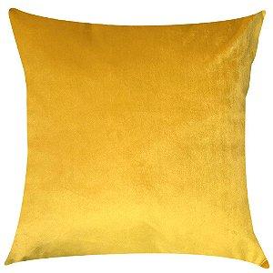 Capa Almofada Veludo Italiano Amarelo