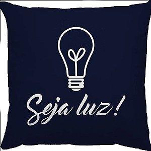 Capa Almofada Candy Seja Luz Azul Marinho
