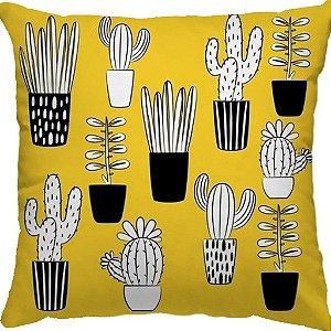 Capa Almofada Cactus Novo Amarelo