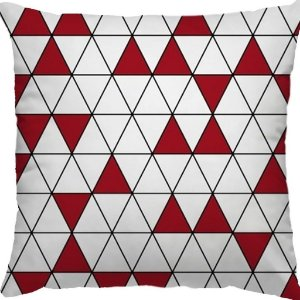 Capa Almofada Malu Mini Triangulos Vermelhos