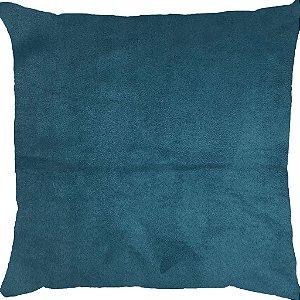 Capa Almofada Veludo Azul Petróleo