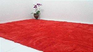 Tapete Pelo Alto 2,00 x 2,40 m Vermelho