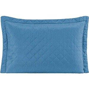 Kit 2 Porta travesseiro Pastilha - Azul