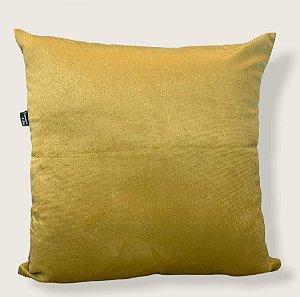 Capa Almofada Veludo Suede Dourado