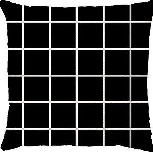 Capa Almofada Personalizada Grid Preta