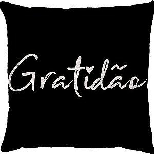 Capa Almofada Gratidão Preta
