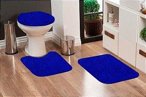 Jogo Banheiro Tapete Microfibra - Azul