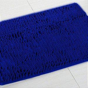 Kit 2 Tapetes Microfibra Pequeno 40 x 60 - Azul