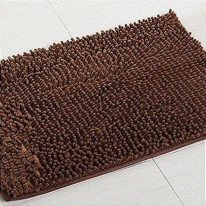Kit 2 Tapetes Microfibra Pequeno 40 x 60 - Marrom