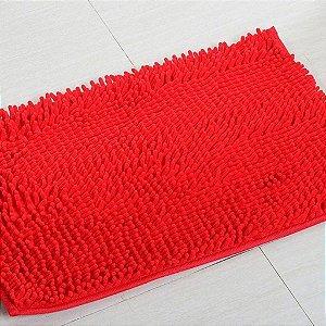 Kit 2 Tapetes Microfibra Pequeno 40 x 60 - Vermelho