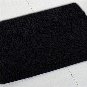Kit 2 Tapetes Microfibra Pequeno 40 x 60 - Preto