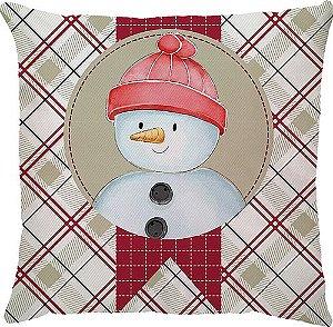 Capa Natal Boneco de Neve Xadrez